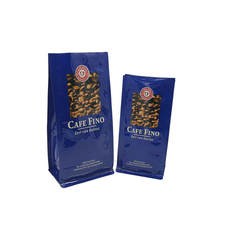 Coffee and tea packaging bags/flat bottom bag/kraft paper